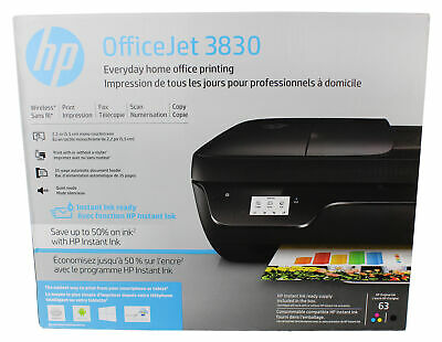 View Details HP OfficeJet 3830 All-in-One Touchscreen  Wireless Printer With Mobile Printing • 59.99$