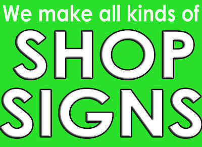 Shop Fronts Shop Signs/ Large PVC Banners/Advertising Signs/Fascia Signs/ • 95£