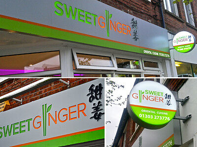 Restaurant And Takeaway Signs, Menu Boxes, Board, Displays, Projecting Signs • 195£