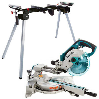 £553 • Buy Makita DLS713Z 18V LXT Cordless 190mm Slide Compound Mitre Saw With Leg Stand