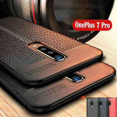 AU5.83 • Buy For OnePlus 5 5T 6 6T 7 Pro Shockproof Slim Silicone Leather TPU Soft Case Cover