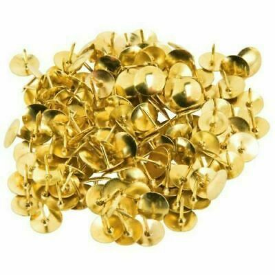 300 Ivy Stationery Large Brassed Drawing Pins Thumbtack Office School Art Craft • 2.99£