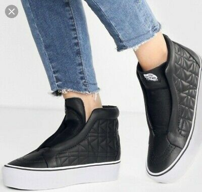 74a2502b9 VANS X KARL LAGERFELD SK8-HI LACELESS PLATFORM SHOES Uk 7 EUR 40.5 RRP£