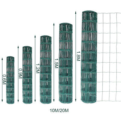Green PVC Plastic Coated Chicken Wire Netting Mesh Fence Galvanised Fencing Web • 32.95£