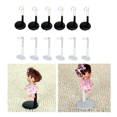 12x Metal Doll Stand For Dolls & Teddy Bear Display Base White/Black 11-20cm • 13.92£