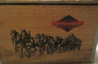 $ CDN97.84 • Buy Budweiser Clydesdales Wooden Box Official Product Vintage Edition