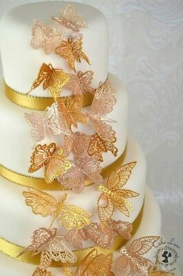 £4.25 • Buy 24 3D Edible Cake Lace Butterflies 2.   ALL COLOURS ONE LOW PRICE