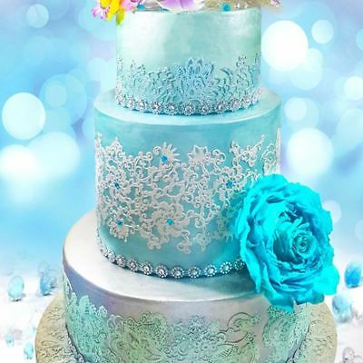 £3.45 • Buy 2 X Strips Paradise Edible Cake Lace ****SAME PRICE FOR ALL COLOUR***
