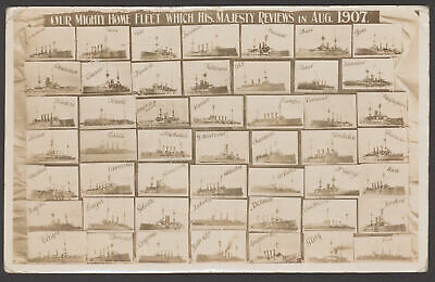 £12.50 • Buy Postcard. Royal Navy  Our Mighty Home Fleet Which His Majesty Reviews Aug 1907