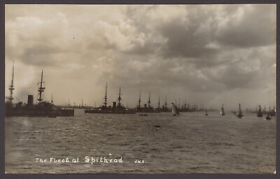£18.50 • Buy Postcard. Royal Navy Review,1907  The Fleet At Spithead  Super Real Photo PC