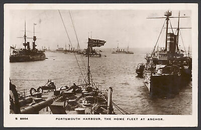 £14.50 • Buy Postcard. Royal Navy Review. Portsmouth Harbour, The Home Fleet At Anchor. RPPC