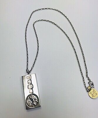 Preowned Silver St Christopher Ingot And Chain • 149£