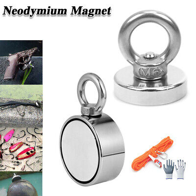 AU13.79 • Buy Salvage Magnet Fishing Rare Earth Strong Magnet Neodymium One Side Dual Side