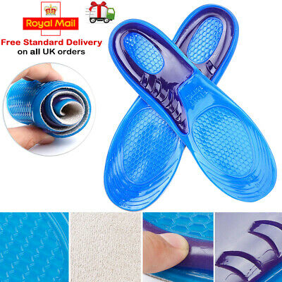 Work Boots Feet Arch Support Orthotic Absorb Shock Gel Massaging Shoe Insoles • 3.35£