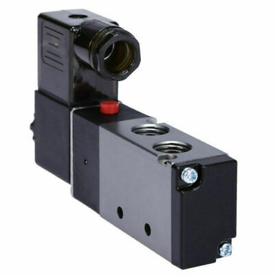 $11.99 • Buy 1/4  Pneumatic 4 Way 2 Position Directional Control Air Solenoid Valve 110V AC