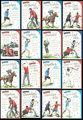 £1.95 • Buy SPORTS THEME BIRTHDAY CARDS - Avalible In RELATION OR OPEN Card