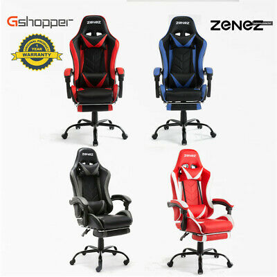 AU145 • Buy NEW Gaming Office Chair Racing Executive Footrest Computer Seat PU Leather