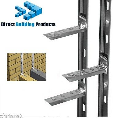 Wall Starter Kits 2.4m + Ties & Fixings Stainless Steel  * 3 Kits * • 30.69£