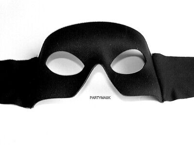 Venetian Masquerade Halloween Mens Party Stag Black Eye Party Mask With Straps • 5.95£