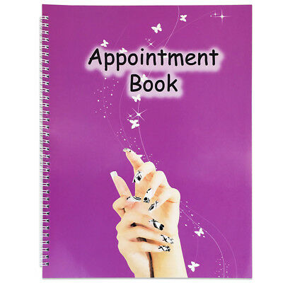 4 Columns Salon Beauty & Nails Schedule Planner Organizer Appointment Book • 11.52£
