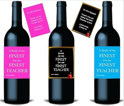 £2.75 • Buy End Of Term Gift Teacher Thank You Gift Bottle Labels For Wine Gin Prosecco Etc