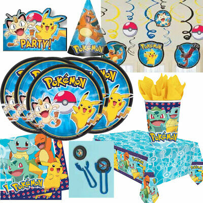 Pokemon Pikachu Party Tableware, Decorations And Balloons • 3.75£