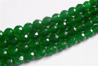 $ CDN3.87 • Buy Natural 6mm Faceted Green Emerald Gemstone Round Loose Beads 15  AAA