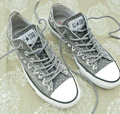 Converse All Star Low Army Green Trainer.Ladies UK 5.Patterned Hearts & Squirrel • 26£