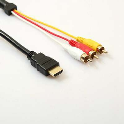 New 1080P HDMI Male S-Video To 3 RCA AV Audio Cable Cord Adapter For TV HDTV DVD • 3.82£
