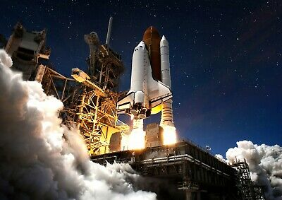 Space Shuttle Poster Size A4 / A3 Astronaut Travel Spacecraft Poster Gift #13041 • 8.99£
