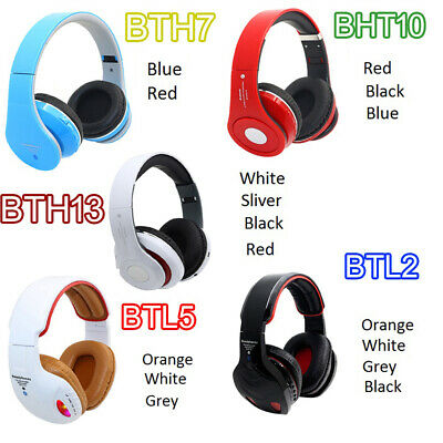 £11.33 • Buy New Bluetooth Headset Stereo-Super Bass Wireless Handsfree Headphones With Cable