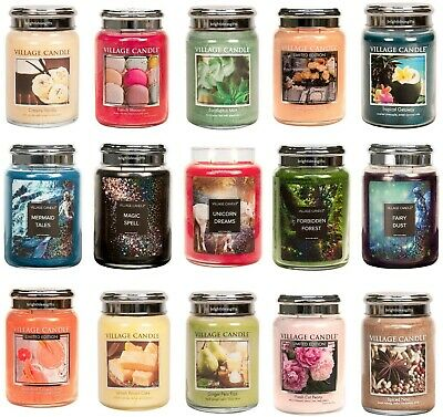 £19.99 • Buy Village Candle - DOUBLE WICK LARGE JAR CANDLE 26oz - Choice Of Fragrances