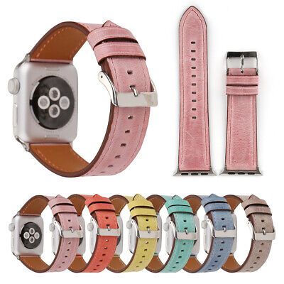 $ CDN12.34 • Buy Leather Replacement Watch Bands Strp For Apple Watch 38/40/42/44mm Series4 3 2 1