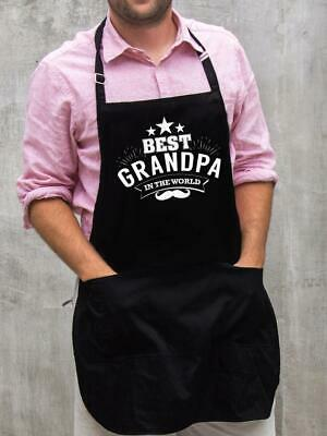 $22 • Buy Best Grandpa In The World Apron / Funny BBQ Grilling Gift For Men