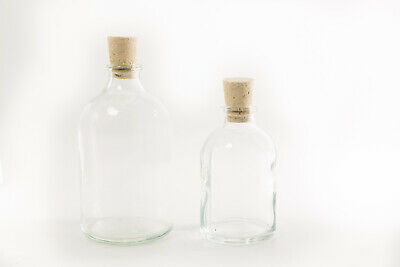 £4.50 • Buy Mini Glass Bottles 30ml, Natural Tops - Ideal For Wedding Favours And Gifts