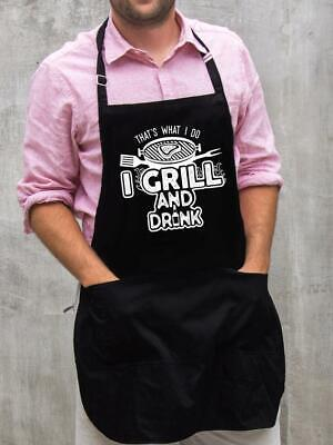 $22 • Buy I Grill And Drink Apron / Funny BBQ Grilling Gift For Men - Dads & Grandpas
