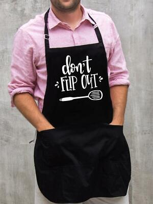 $22 • Buy Don't Flip Out Apron / Funny BBQ Grilling Gift For Men - Dads & Grandpas
