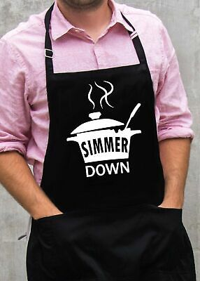 $22 • Buy Simmer Down Apron / Funny BBQ Grilling Gift For Men - Dads & Grandpas