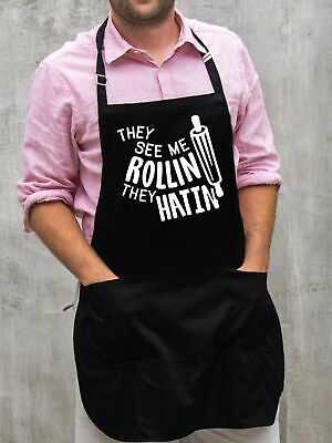 $22 • Buy They See Me Rollin' Apron / Funny BBQ Grilling Gift For Men - Dads & Grandpas