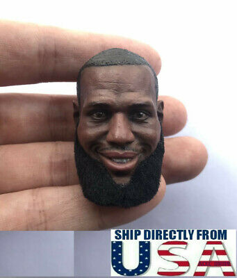$49.99 • Buy 1/6 LeBron James Rooted Mustache Head For 12  Enterbay Hot Toys PHICEN Figure