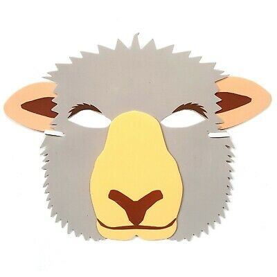 Sheep Foam Face Mask - Fancy Dress Theatre Farm Animal Masquerade Party Masks • 2.97£