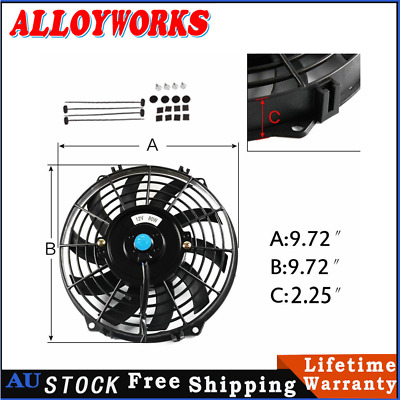 AU39 • Buy 9  Pull Push Radiator Electric Thermo Cueved Blade Fan Mounting Kits New