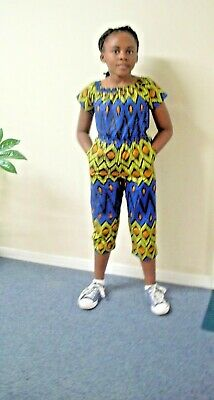 African Print Jumpsuit UK  Size 8yr To 9 • 19.99£