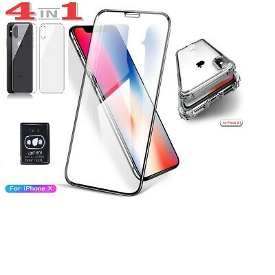 AU9.90 • Buy IPhone X 9.9D Front&Back Screen Protector Shockproof Case Camera Protector 4in1