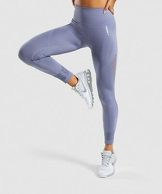2066aabd192a7f Gymshark Energy+ Seamless High Waisted Leggings - Small - Steel Blue BNWT •  60.00$