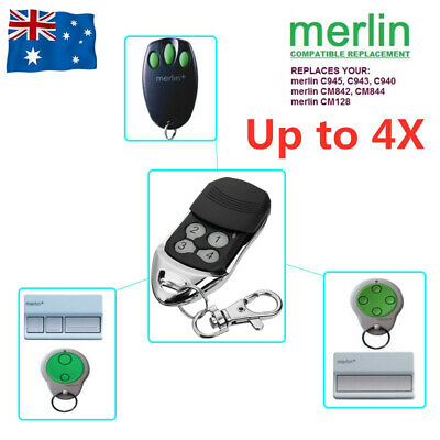 AU8.98 • Buy For Merlin C945 CM842 C940 C943 Bearclaw Plus Replacement Garage Remote Control
