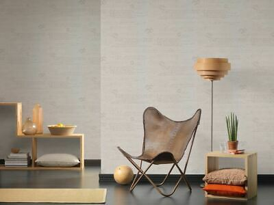 As Creation Typography Text Linen Effect Fabric Textured Wallpaper 363822 • 14.99£
