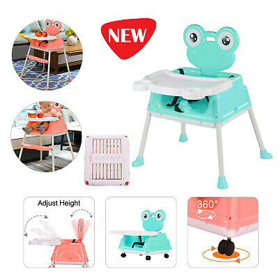 5 In 1 Baby Kids Toddler Infant High Chair Feeding Recliner Seat Chair Foldable • 24.99£