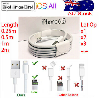 AU5.99 • Buy USB Lightning Charging Data Cable For Genuine Apple Charger IPhone5-8 11 XS IPad