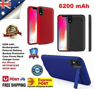 AU29.95 • Buy For IPhone X XS XR XS MAX 6200 MAh Rechargeable Portable Charging Battery Case
